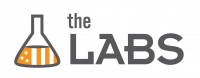 THE DEMOCRACY LABS orange and black logo.