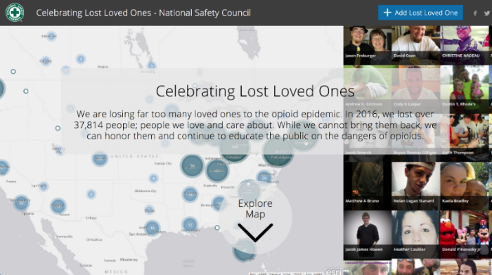 A story map celebrating lost loved ones