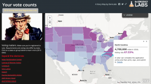 Argis Story Map - Voter Participation