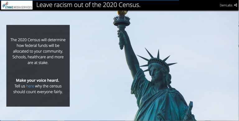 An image of the statue of liberty for Racism and the 2020 Census