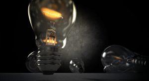 A photo of a light bulb