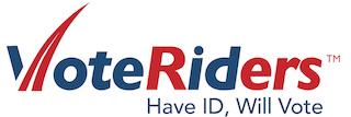 The logo of VoteRiders