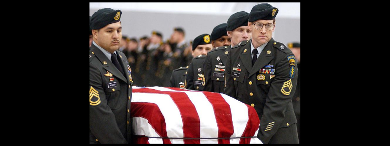 More than 60 Green Berets pay their respects to the first U.S. soldier killed by hostile fire in Afghanistan.