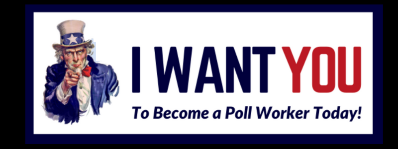 Uncle Sam: Become a poll worker today.