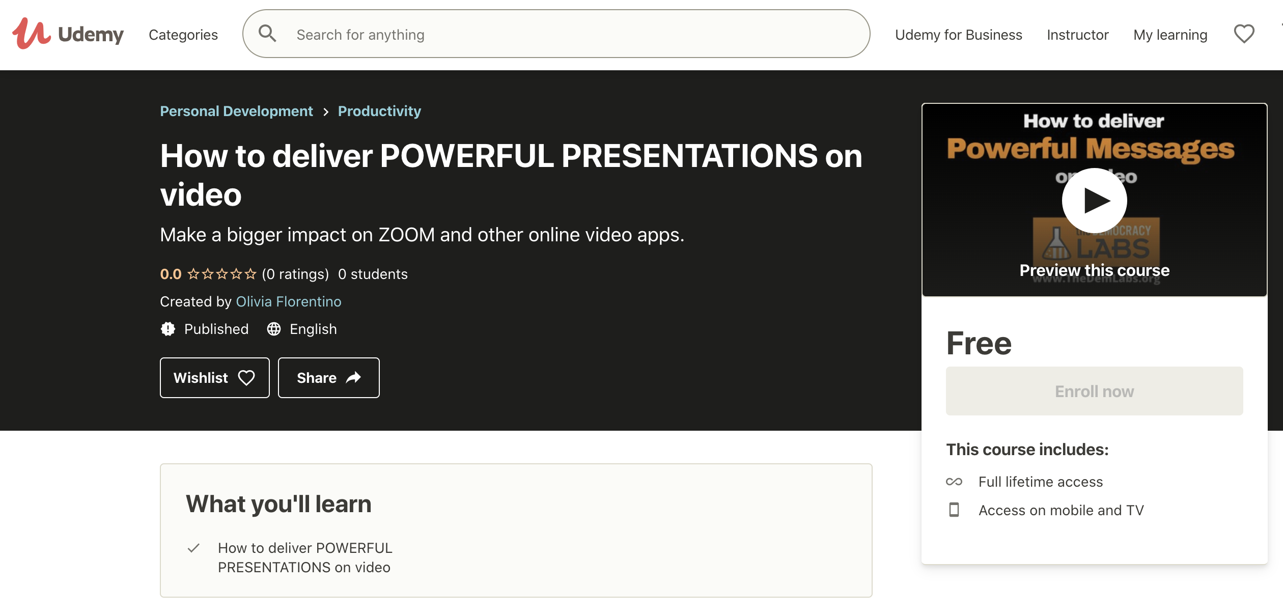 Udemy is a wonderful, free platform to deliver online training courses.