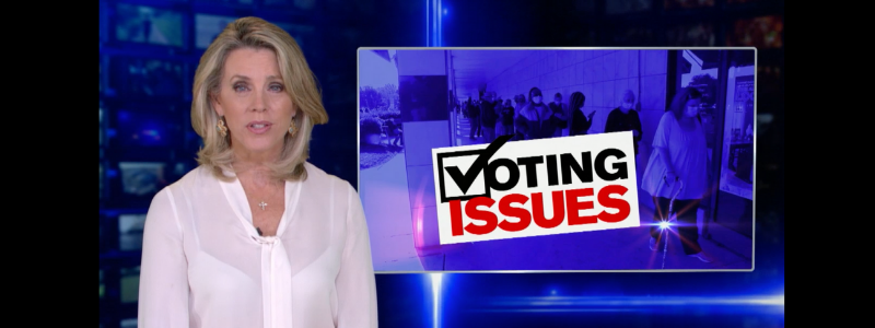 Inside Edition, billboards & The Lincoln Project show voters how to report voter suppression.