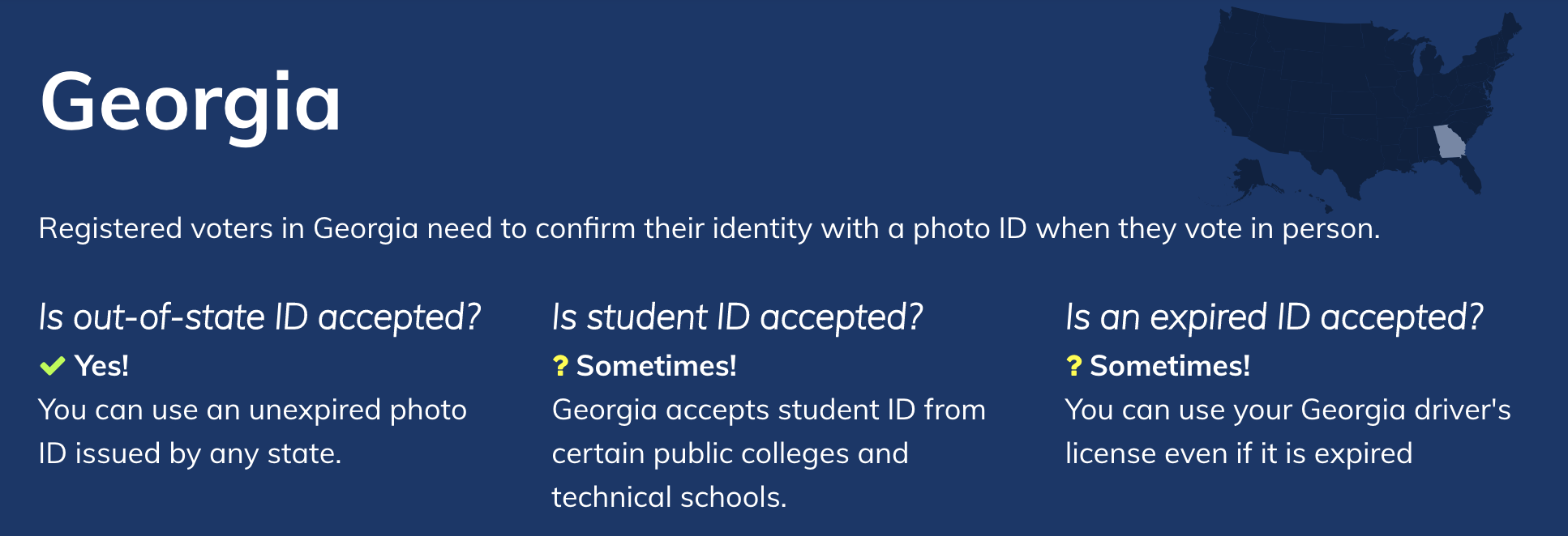 Georgia Voter ID laws