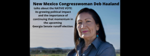 New Mexico Congresswoman Deb Haaland explains the importance of the Native American vote in the Georgia Senate Runoff Elections.