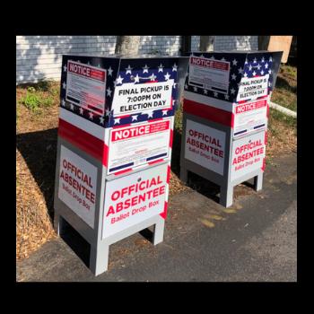 Absentee ballot drop box locations in Georgia.