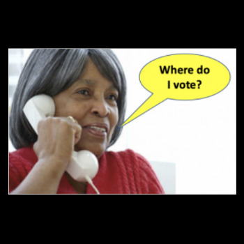 Reclaim our Vote uses chatbots to help voters with only a landline find their closest early voting location.