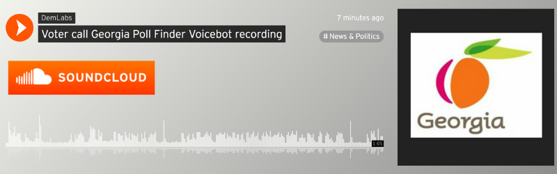Voicebot handles calls from voters on a landline looking to find the closest polling location.