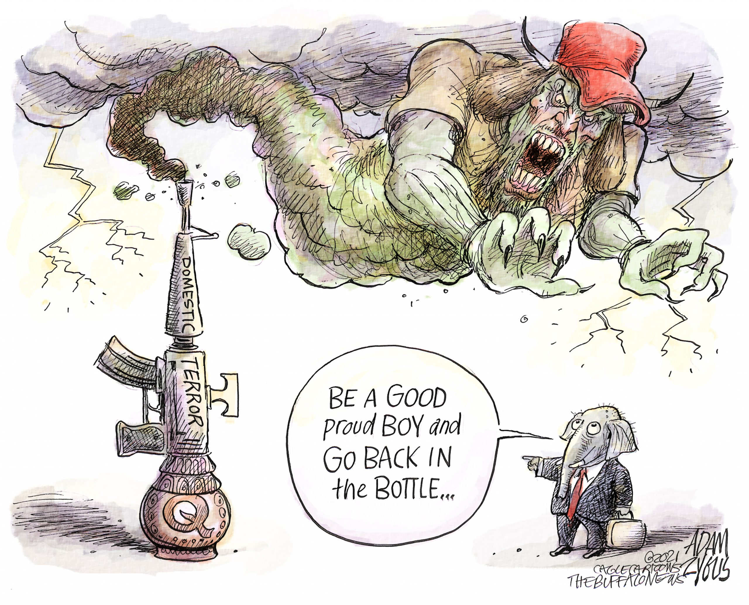 Domestic terrorism - Adam Zyglis
