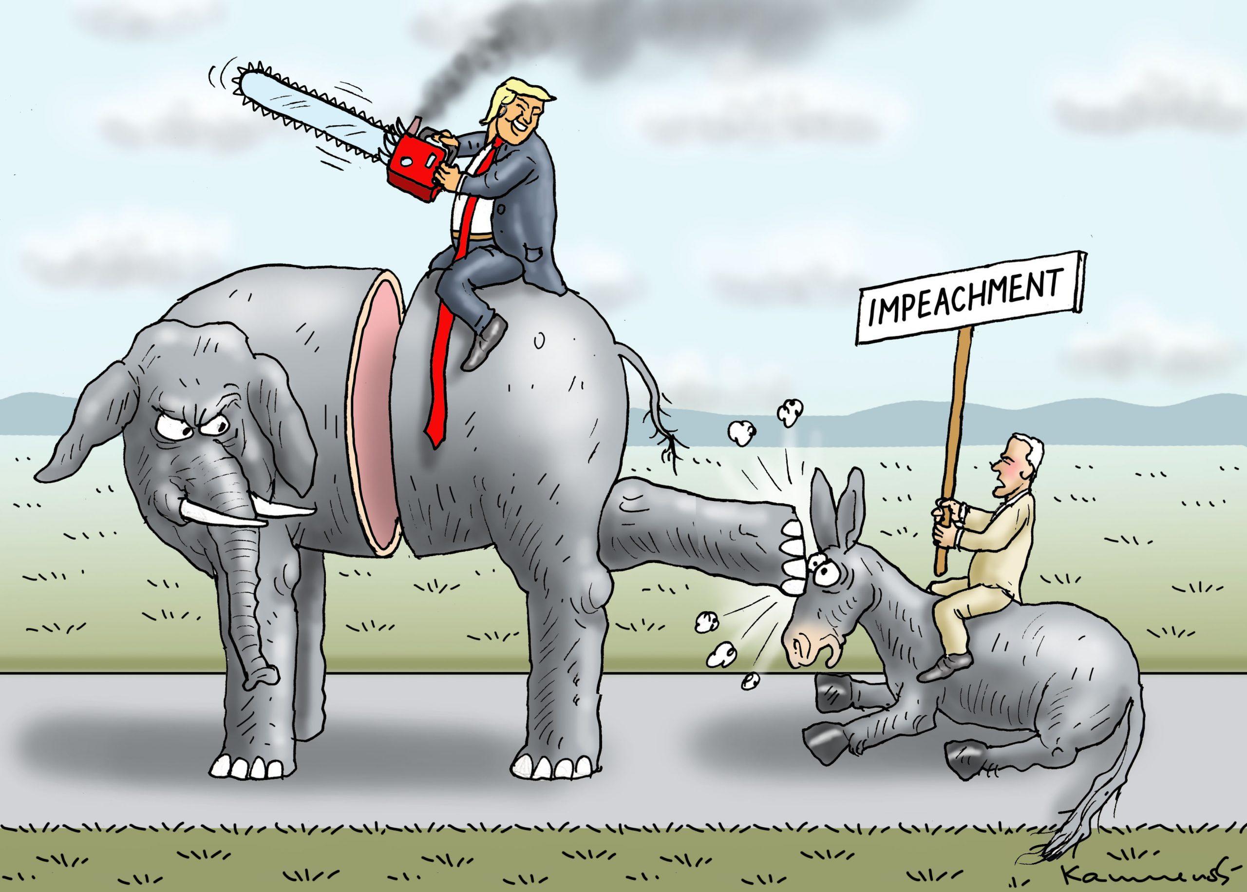 Trump impeached. Marian Kamensky