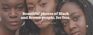 Image influence our perception of issues and people. Over time solidifies into beliefs. So change starts with the images we use in our communications. Nappy is a free resource with free photos of Black and Brown.