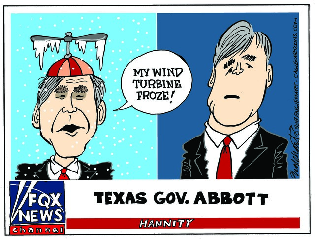 GOV. ABBOTT, TEXAS, SUB ZERO, TEMPERATURE, WEATHER, SNOW BLIZZARD, ICE, HOUSTON, AUSTIN, PANHANDLE, ELECTRICITY, ERCOT LONE STAR STATE, HANNITY, FOX NEWS