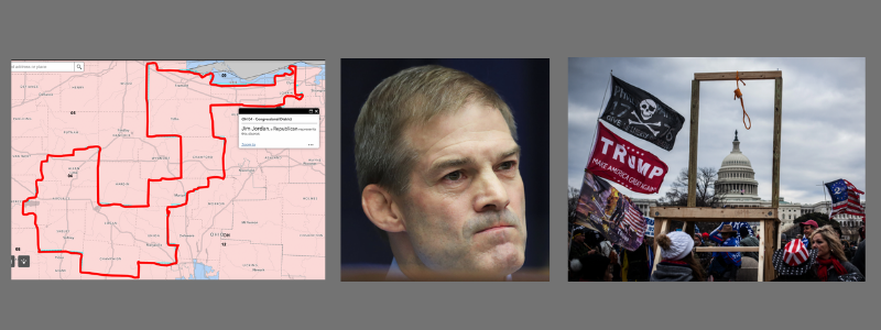 Jim Jordan represents Ohio's 4th congressional district, which is shaped like a duck.