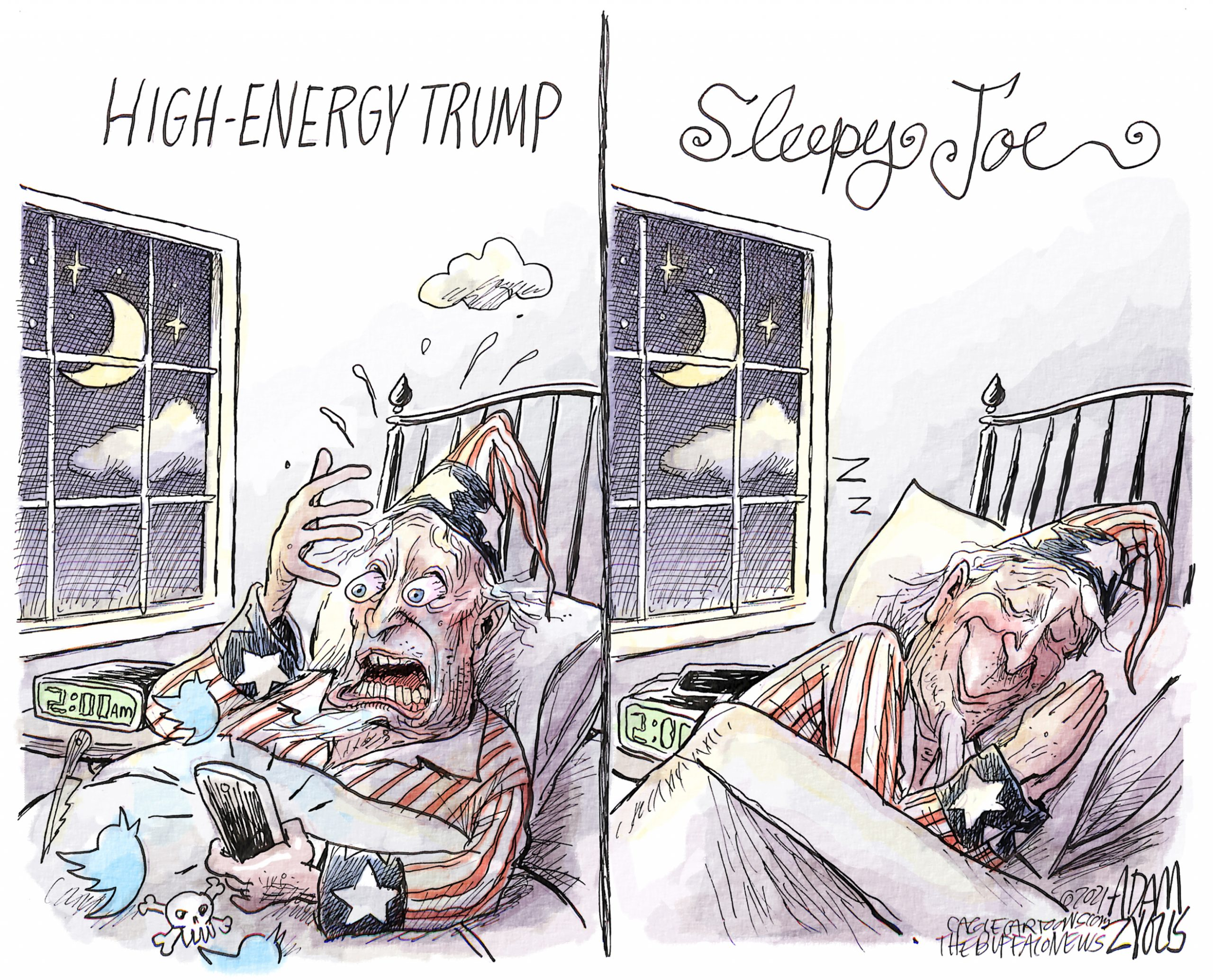 Sleepy Joe. Adam Zyglis.