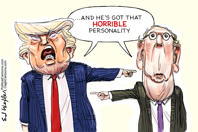 TRUMP, IMPEACHMENT, ACCOUNTABLE, RESPONSIBLE, INSURRECTION, MITCH MCCONNELL, MAGA TRIAL, HUMOR, SATIRE