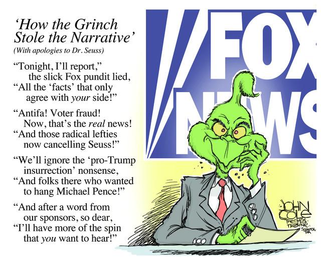 DR. SEUSS, SEUSS, CANCEL CULTURE, FOX NEWS, RACISM, DONALD TRUMP, INSURRECTION, RIGHT-WING, FAR RIGHT, OANN, NEWSMAX