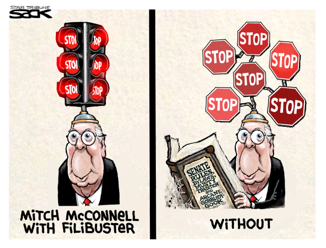 MITCH MCCONNELL, SENATE FILIBUSTER, OBSTRUCTION