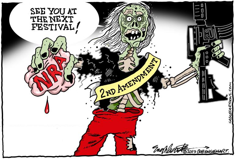 AK 47, ASSAULT RIFLE, GUNS, NRA, NATIONAL RIFLE ASSOCIATION, ZOMBIES, LIVING DEAD, DEATH, KILLERS, SHOOTERS