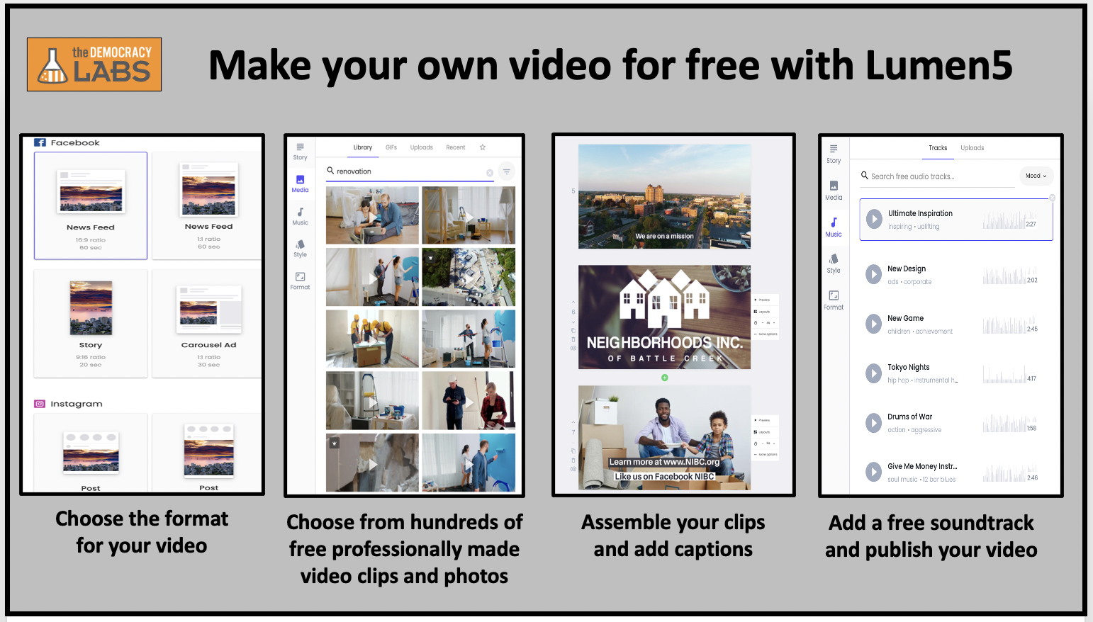Create your own fundraising video in hours, for free with Lumen5