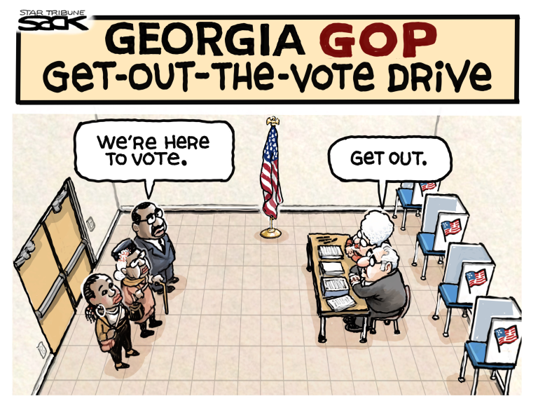GEORGIA, VOTE, VOTING SUPPRESSION, BLACK
