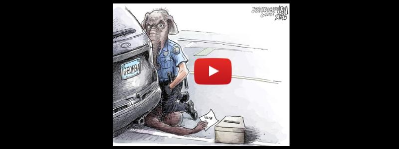 Georgia voter suppression, George Floyd's trial, Matt Gaetz featured in this week's political cartoons.