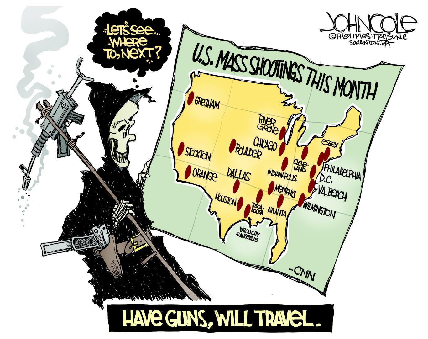 MASS SHOOTINGS, BOULDER, TUSCALOOSA, ATLANTA, INDIANAPOLIS, NRA, CONGRESS, SEMI AUTOMATIC WEAPONS, MENTAL HEALTH
