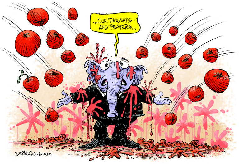 REPUBLICAN, ELEPHANT, SCHOOL SHOOTING, THOUGHTS AND PRAYERS, GUN CONTROL, NRA, NATIONAL RIFLE ASSOCIATION
