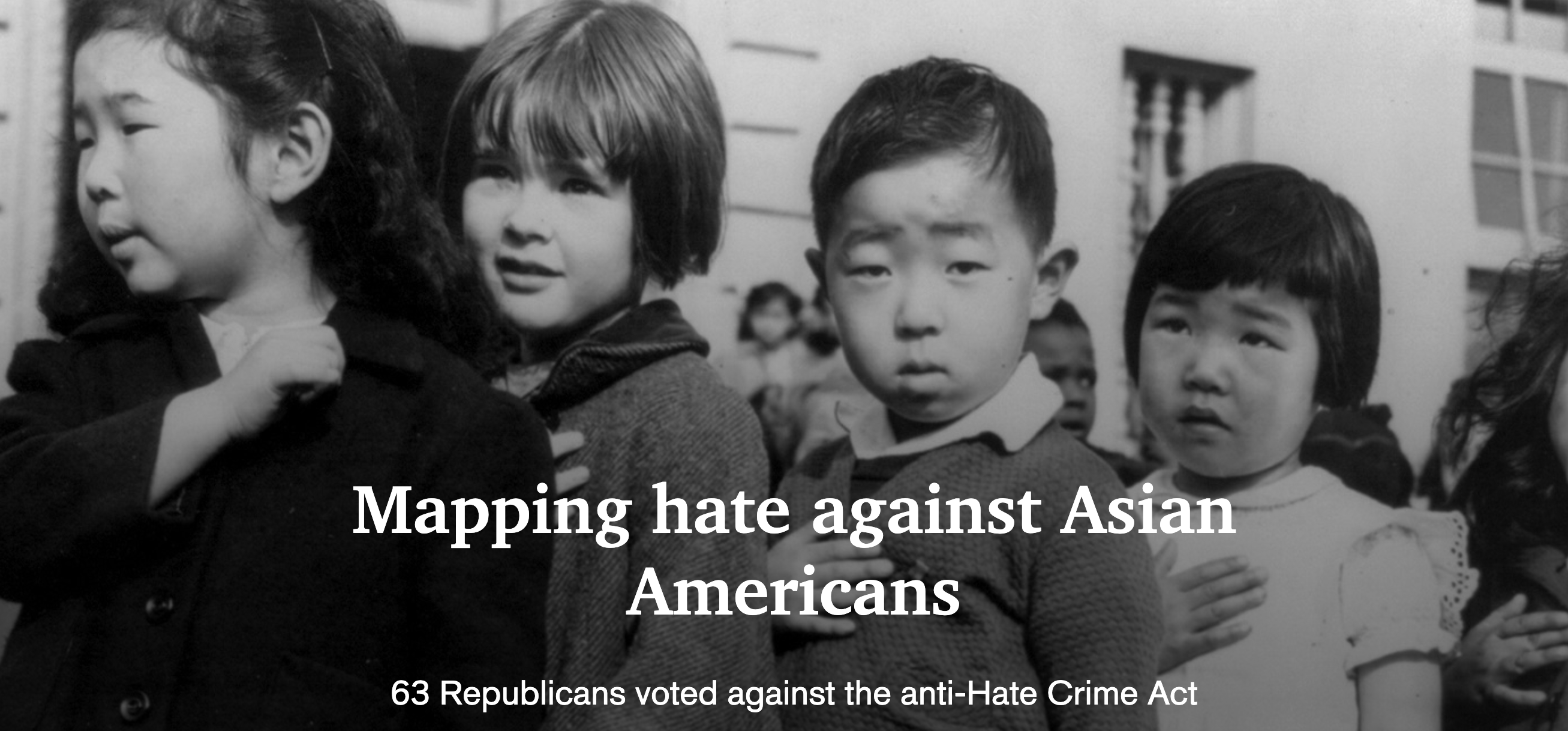 63 Republicans voted against the COVID-19 Hate Crimes Act