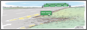 Working Americans struggle with poor infrastructure. Invest tax payers' money in infrastructure rather than tax cuts for rich donors and corporations that don't pay any tax.