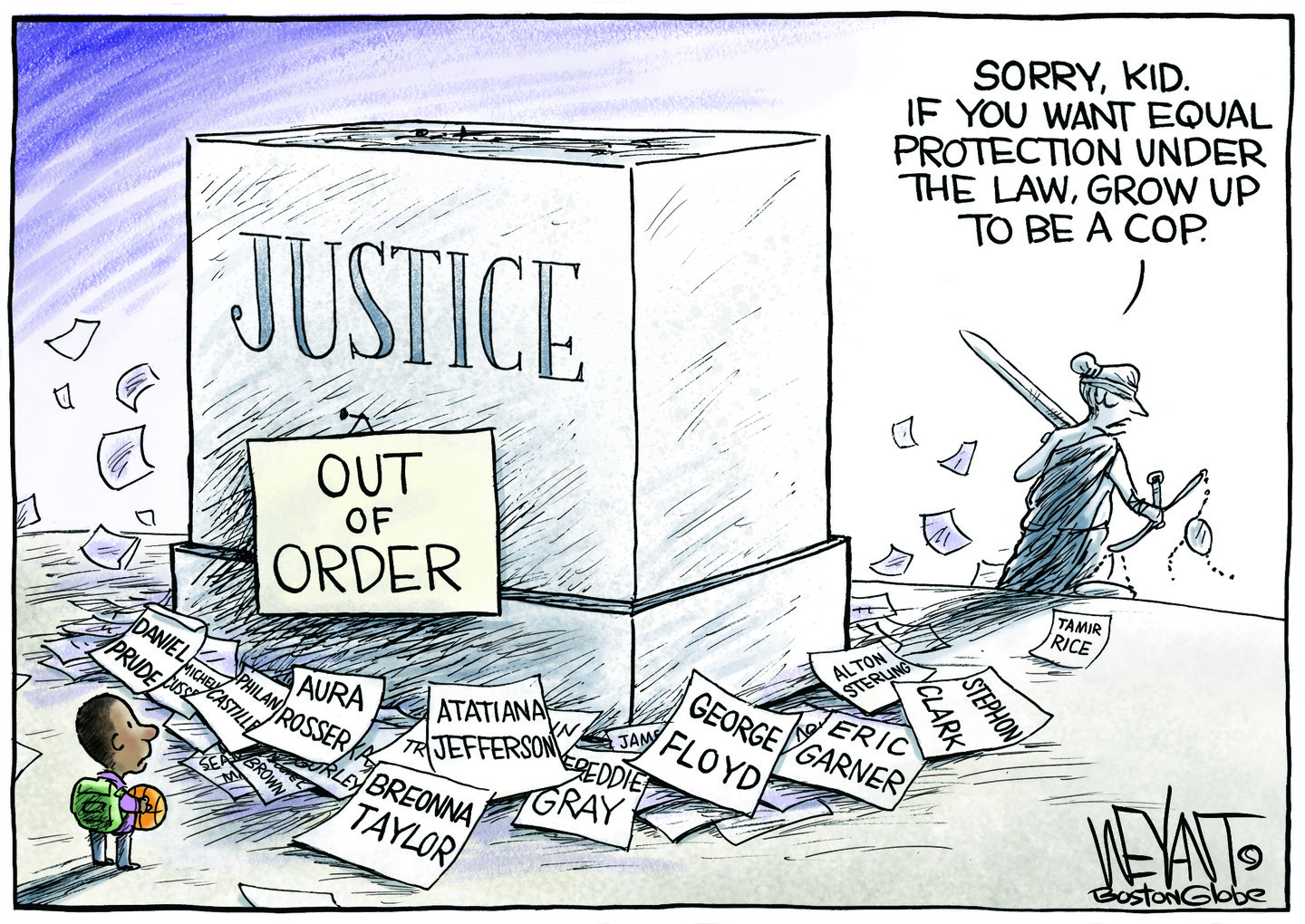 Broken justice system disempowers the poor and communities of color.