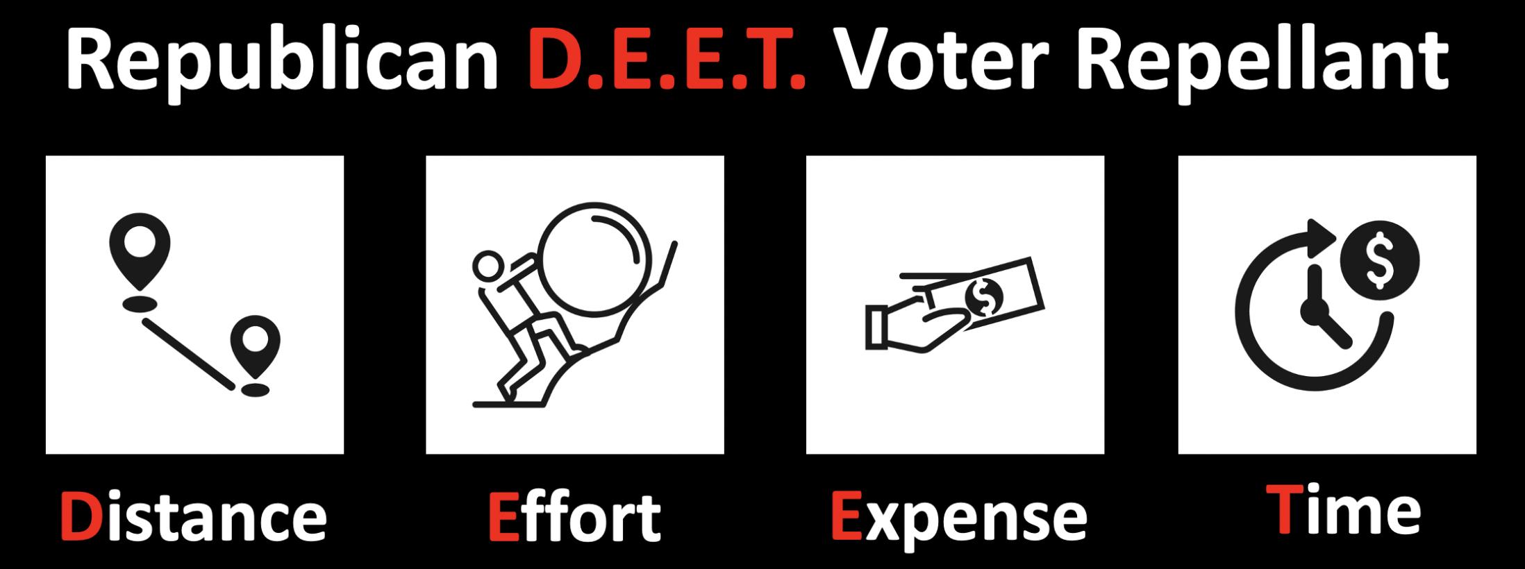 Republican DEET voter repellant strategy