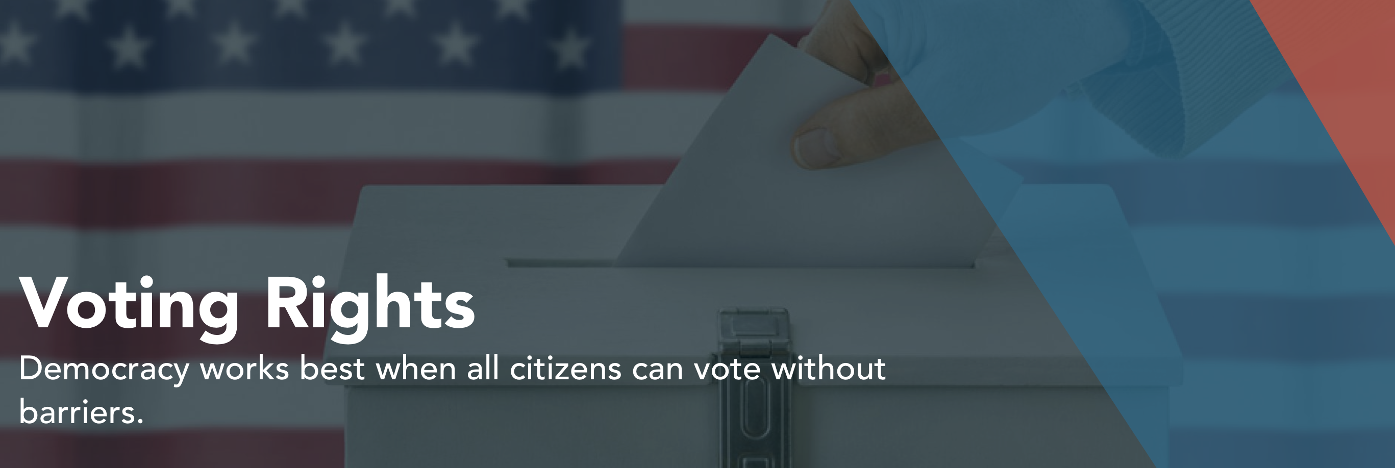 Voting should be accessible for all citizens, no matter where they live, the color of their skin or how much money they make.