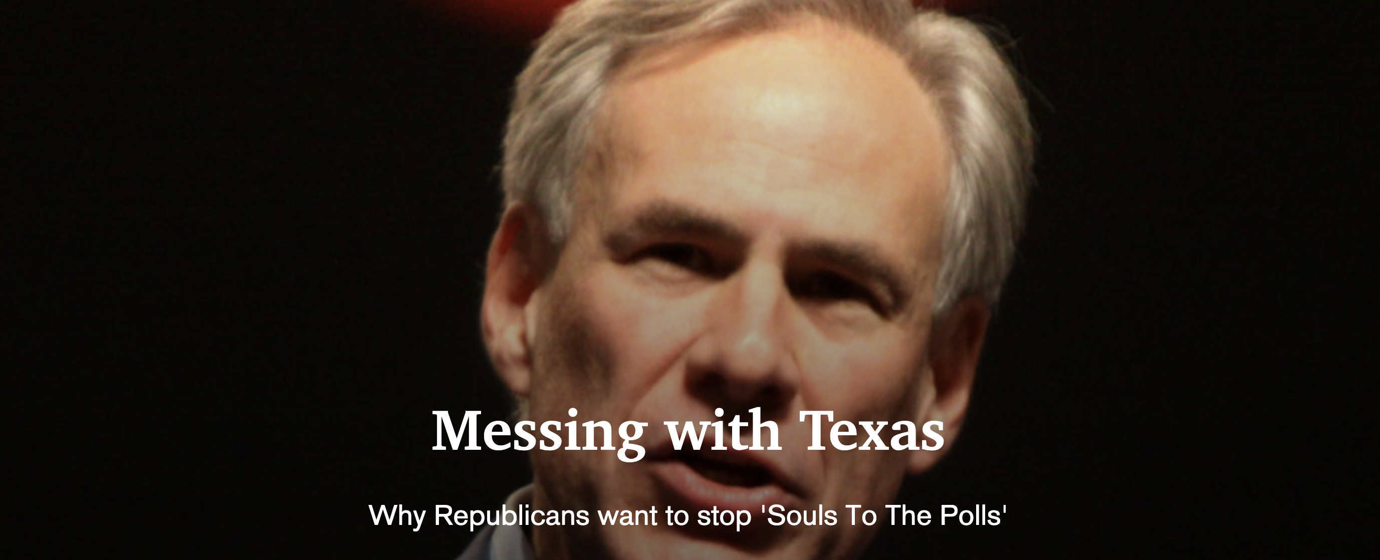 Mapping Republican voter suppression in Texas
