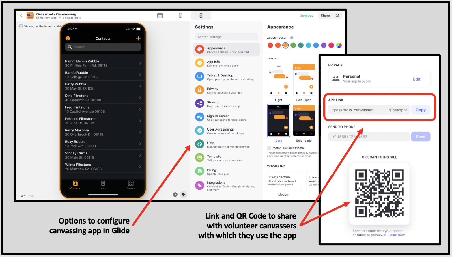Glide Apps makes it easy to create mobile apps that work with Google Sheets.