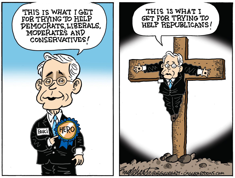 Fauci villanized by Republicans and FOX.