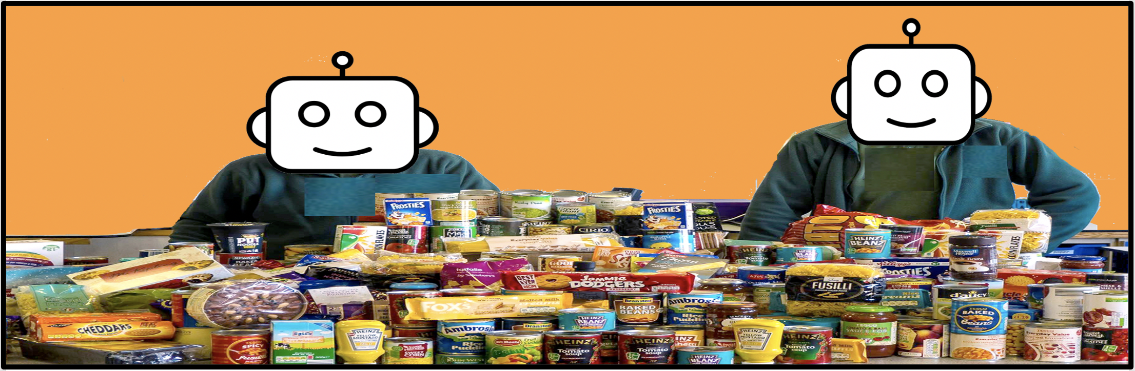 Infobots direct the needy to foodbanks and build contact lists at the same time.