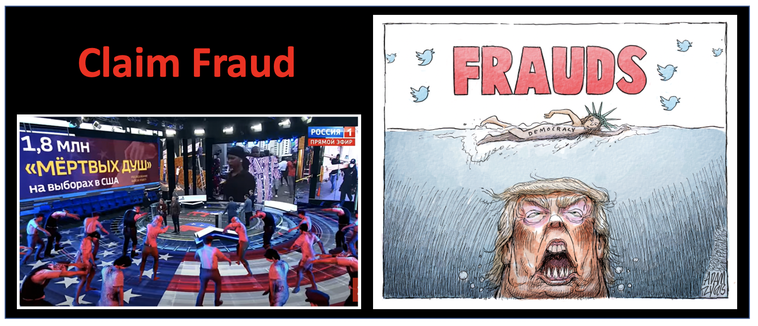 Claim that your opponent is resorting to fraud in order to create confusion.