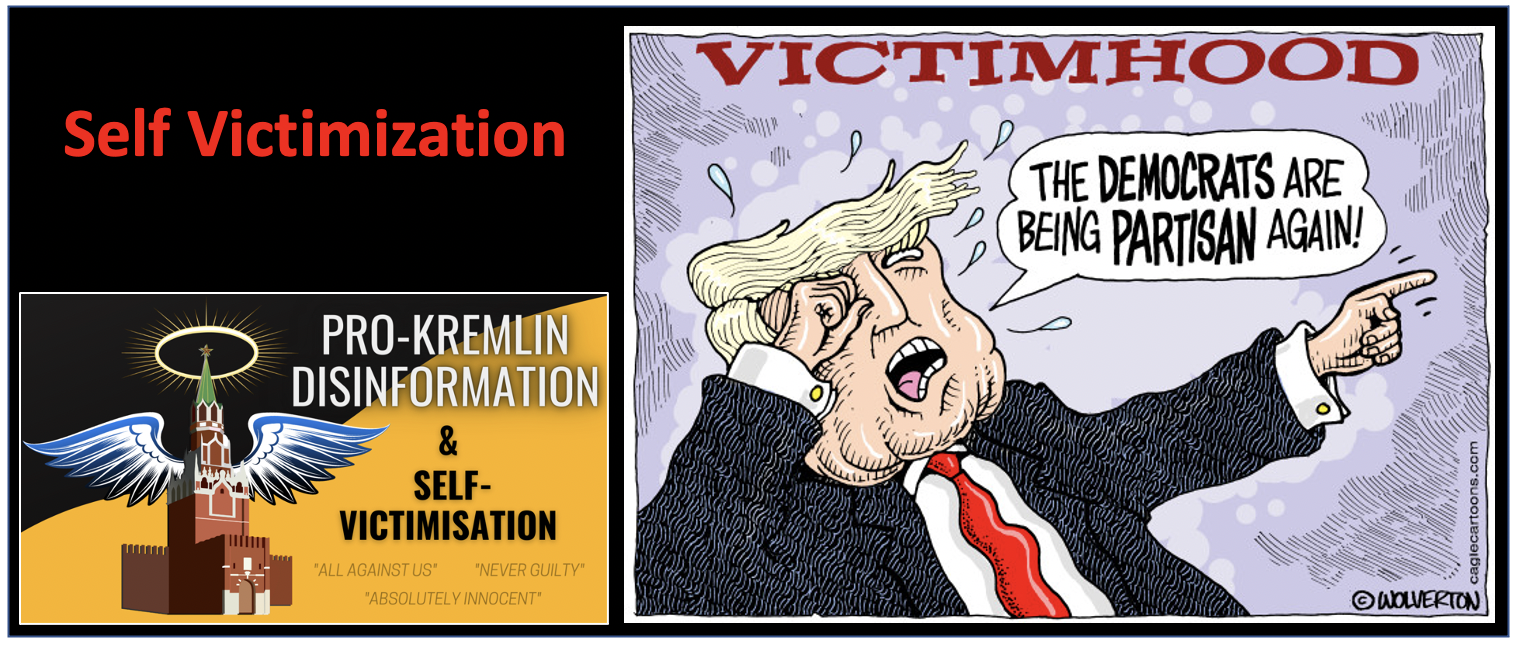 Claim that you are the real victim and weaponize that to attack others