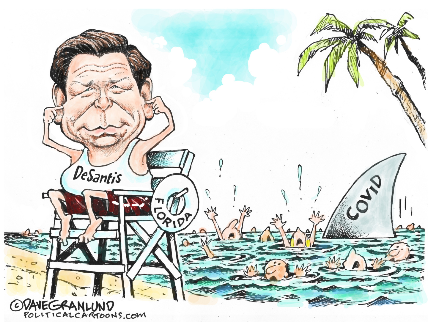 DeSantis jeopardizes the health of people in Florida to score political points.