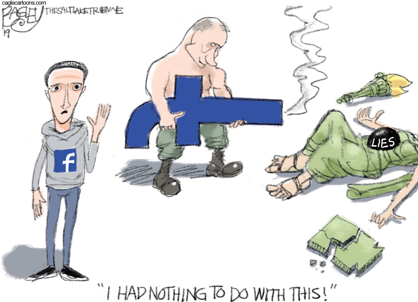 Facebook meddles with elections