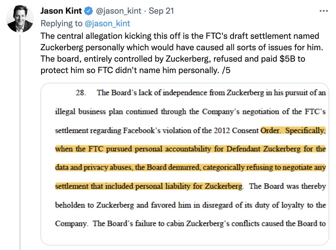 Facebook paid $5Billion to protect Zuckerberg