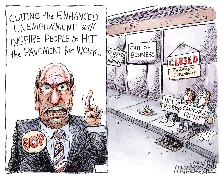 Republicans slash unemployment benefits