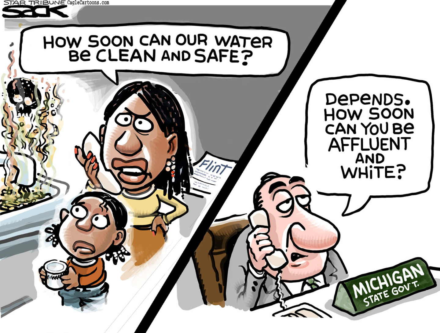 Republican mis management created lead contaminated water supplies.