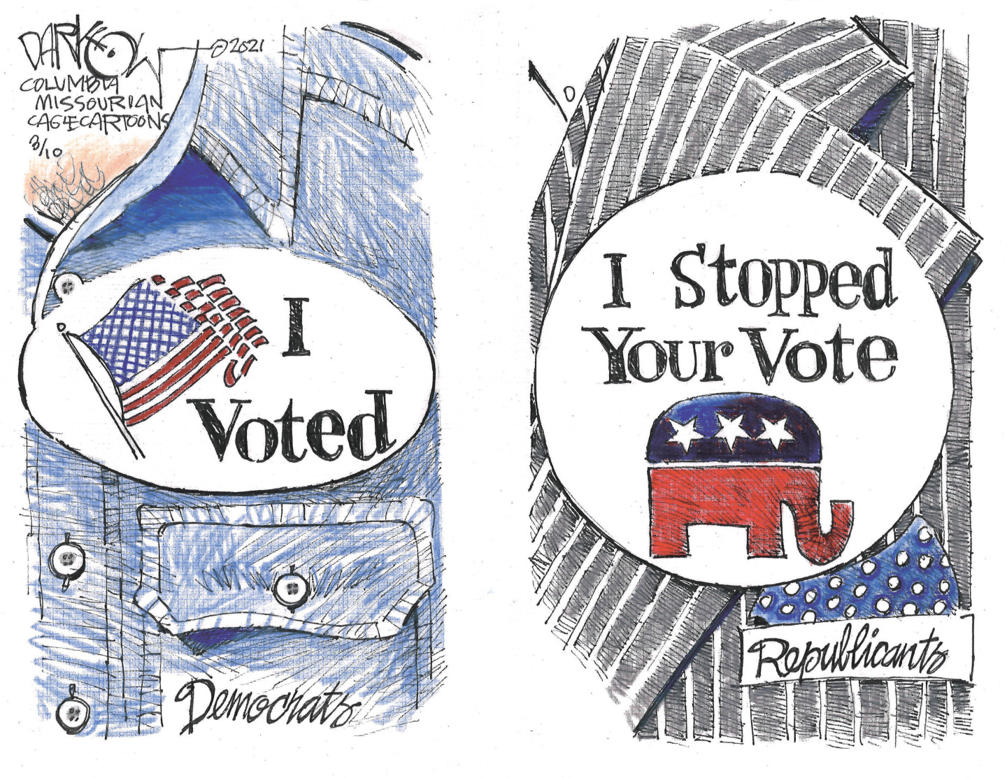 Republicans rely on voter suppression and gerrymandering to cling to office.
