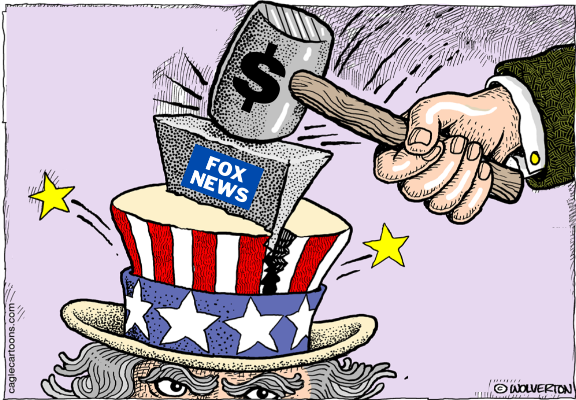 FOX News spreads conspiracy theories and polarizes Americans.
