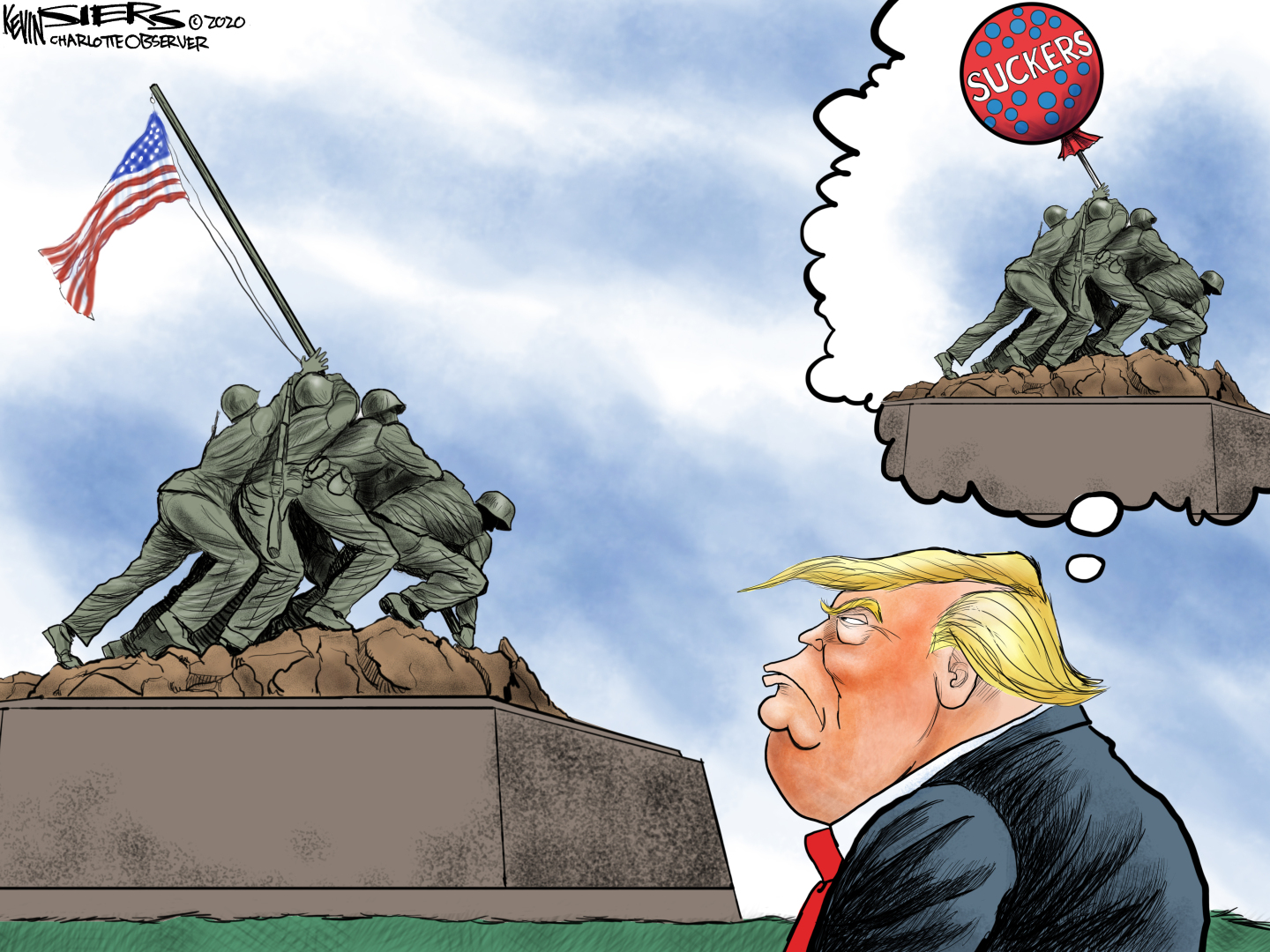 Trump calls those who serve in the armed forces as 'losers'.