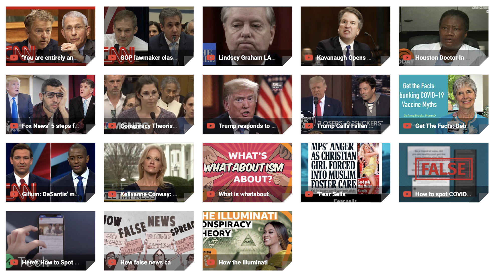 Video examples of how to spot and counter misinformation and disinformation